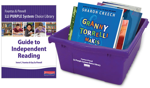 Choice Library book bin and Guide to Independent Reading