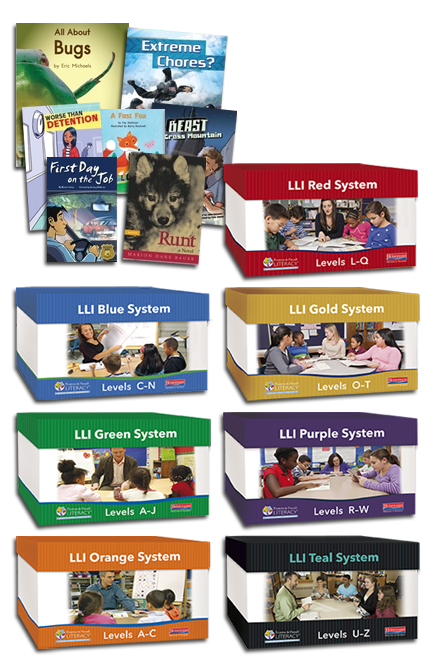 Leveled Literacy Intervention boxes