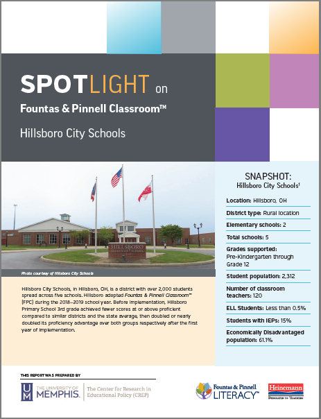 Fountas & Pinnell Classroom: Spotlight on Hillsboro City Schools