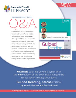 Q&A with Fountas and Pinnell - Guided Reading