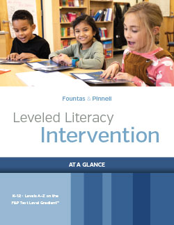 Leveled Literacy Intervention At-A-Glance Brochure