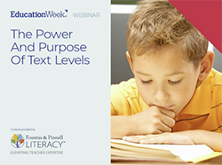 Webinar: The Power and Purpose of Text Levels