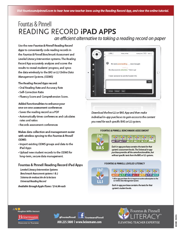 Reading Record App Flyer