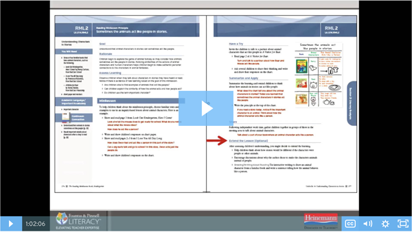 Fountas & Pinnell Webinar: Put Reading Minilessons into Action