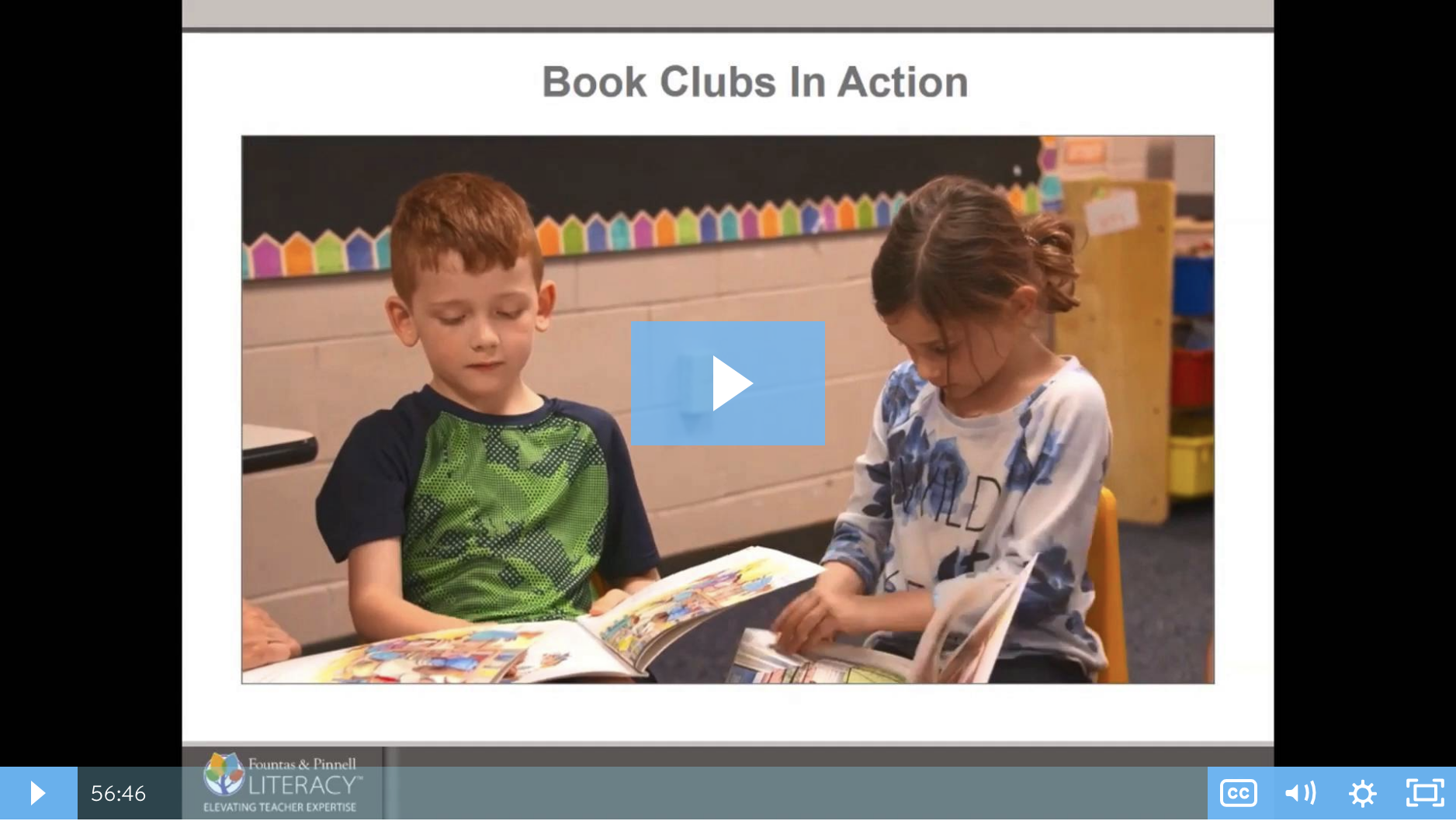 Webinar: Fountas & Pinnell Classroom™: Put Book Clubs Into Action