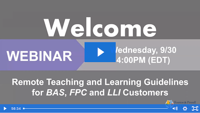 Webinar: Remote Teaching and Learning Guidelines
