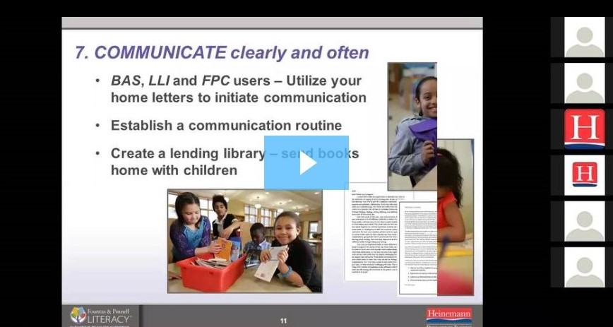 Fountas & Pinnell Webinar: Let's Get Practical Series, Part One