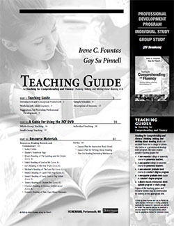Teaching for Comprehending and Fluency PD Program Study Guide