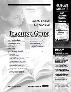 Teaching for Comprehending and Fluency One Quarter College Course Student Study Guide