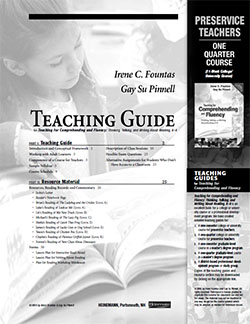 Teaching for Comprehending and Fluency Teachers One Quarter Study Guide