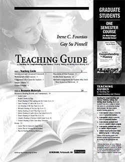 Teaching for Comprehending and Fluency One Semester Course Student Study Guide